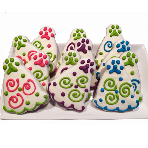 Party Hat Dog Cookies | Choice of 3 colors