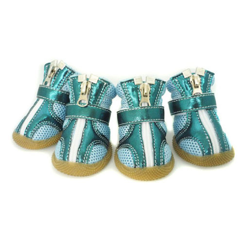 Sporty Dog Boots | Metallic Teal