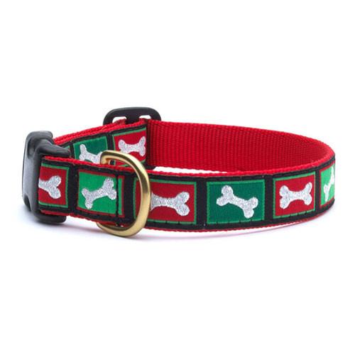 Christmas Bones Dog Collar