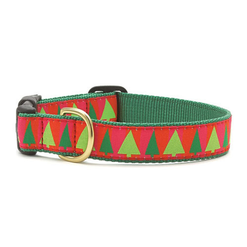 Festive Trees Dog Collar