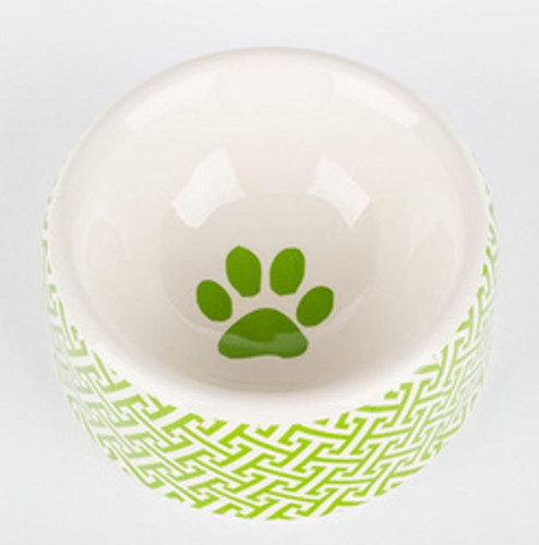 Green Trellis Dog Bowl