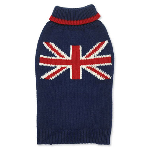 Navy Union Jack Dog Sweater