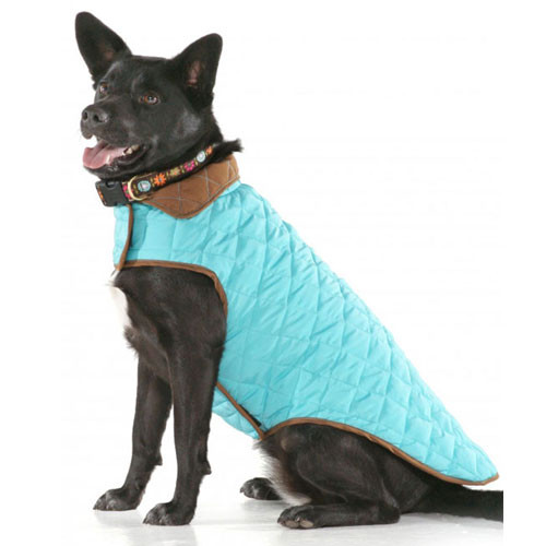 Diamond Quilted Reversible | Aqua & Brown
