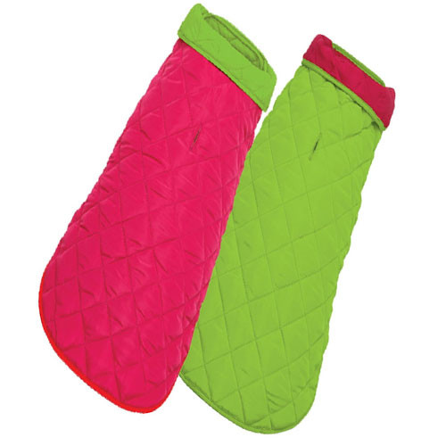 Diamond Quilted Reversible | Pink & Lime