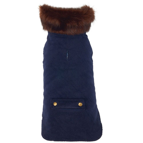 Blue Velvet Dog Coat