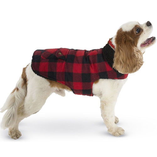 Buffalo Check Fleece Dog Coat