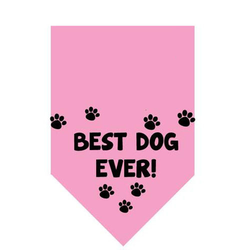 Best Dog Ever Pet Bandana | Pink