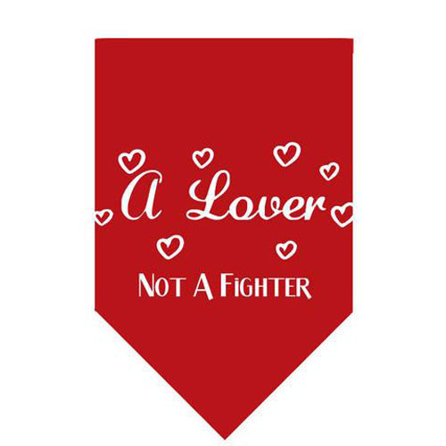A Lover Not A Fighter Pet Bandana