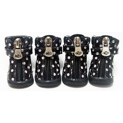 Dot Hiker Hounds Dog Boots | Black