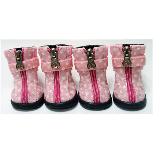 Dot Hiker Hounds Dog Boots | Pink