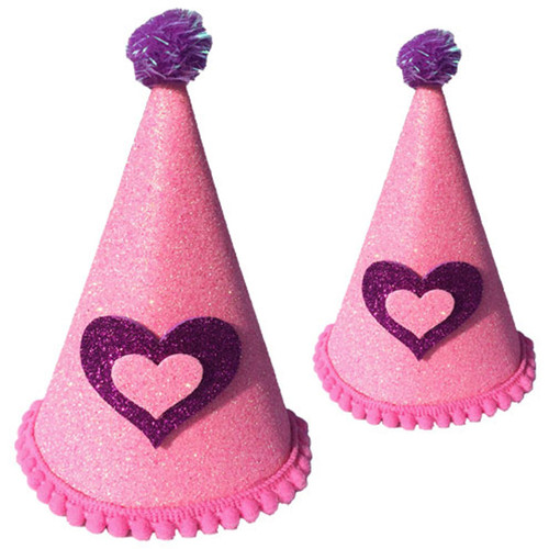 Deluxe Birthday Party Hat  | Pink