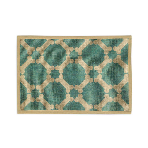 Jute Dog Placemat | Teal