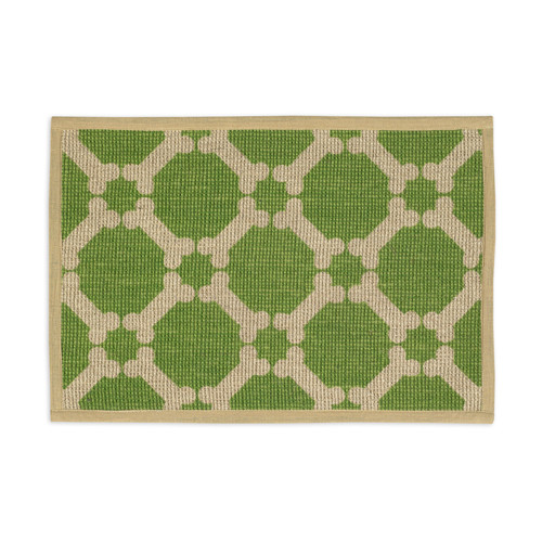 Jute Dog Placemat | Green
