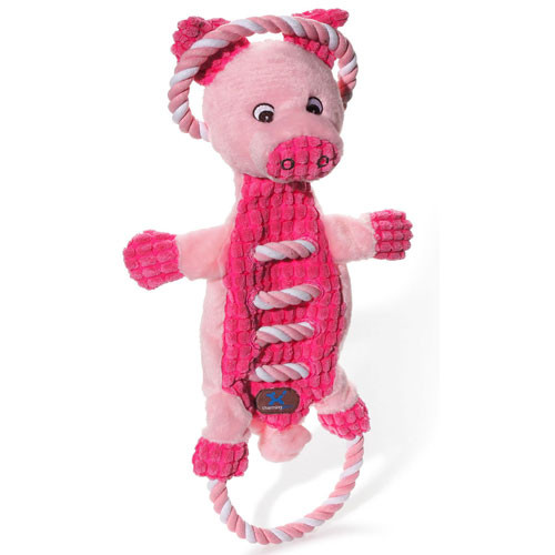 Ropes A-Go-Go Dog Toy | Pig