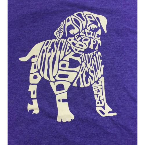 Rescue Dog T-Shirt | Heather Purple