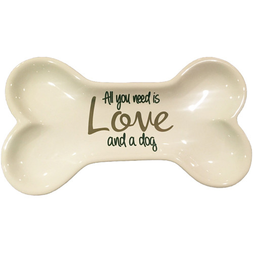 Tid Bit Dish   All You Need is Love & A Dog
