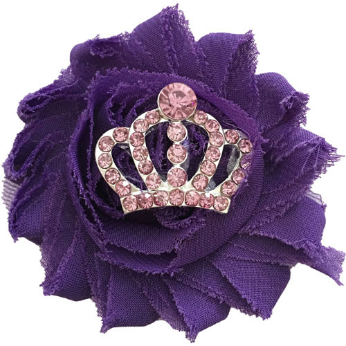 Shabby Crown Collar Bud | Purple