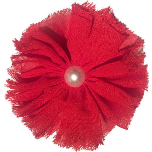 Chiffon & Pearl Collar Bud | Red