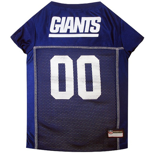 New York Giants Dog Jersey – Blue Trim