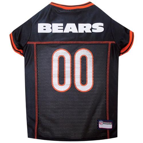 Chicago Bears Dog Jersey  - Orange Trim