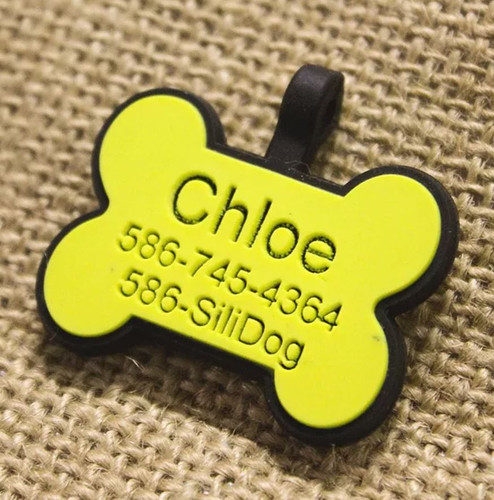 Silent Dog ID Tag | Bone Yellow