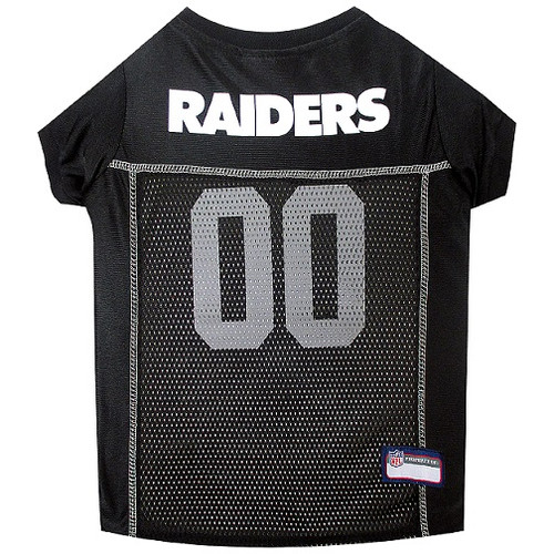 Oakland Raiders Dog Jersey  - Black Trim