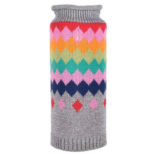 Worthy Dog Argyle Fairisle Roll Neck Dog Sweater