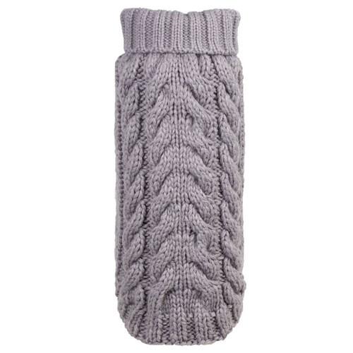 Worthy Dog Hand Knit Turtle Neck Dog Sweater | Grey