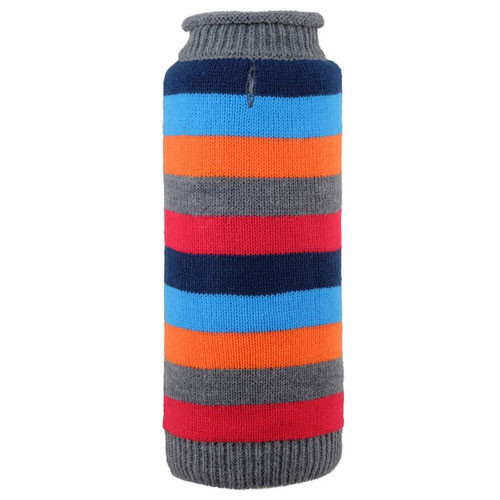 Worthy Dog Dapper Stripe Roll Neck Dog Sweater | Grey