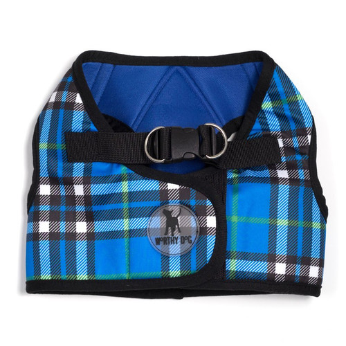 Sidekick Harness | Printed Blue Plaid