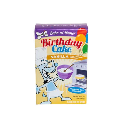 Vanilla Birthday Cake Mix w/ Sprinkles & Frosting