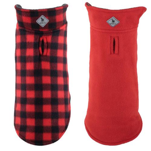 Fargo Fleece Reversible Jacket | Red Buffalo