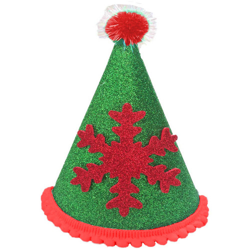 Deluxe Snowflake Hat  | Green & Red