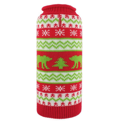 Holiday Polar Bear Dog Sweater