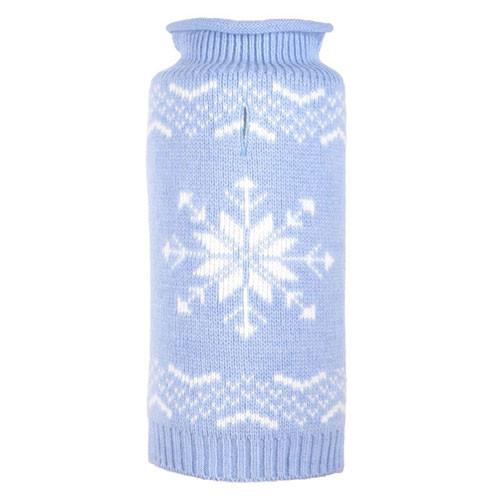 Worthy Dog Snowflake Icy Blue Dog Sweater
