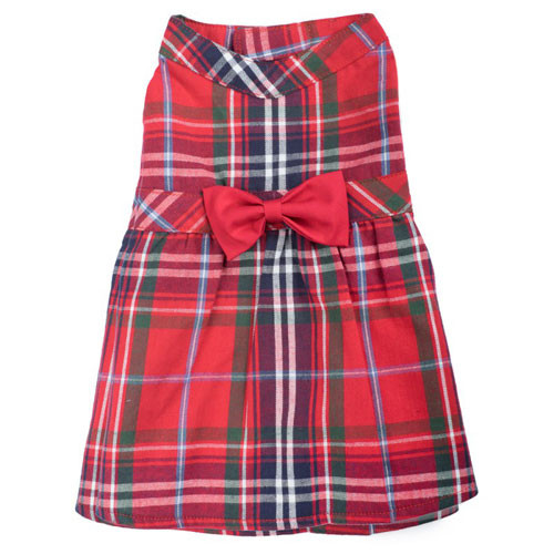 Worthy Dog Flannel Dress | Red Plaid