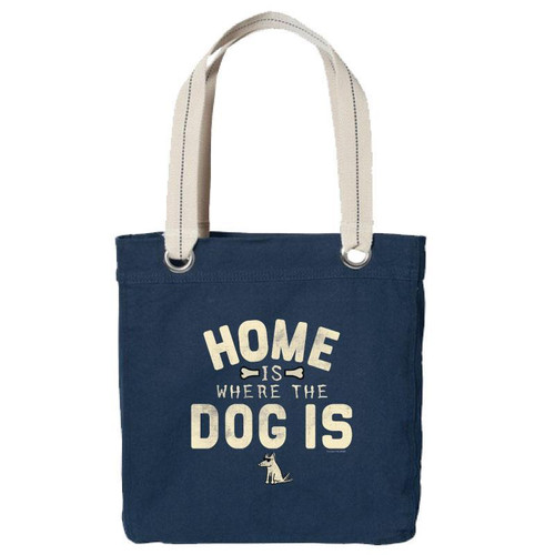 Canvas Tote | Home Is Where the Dog Is