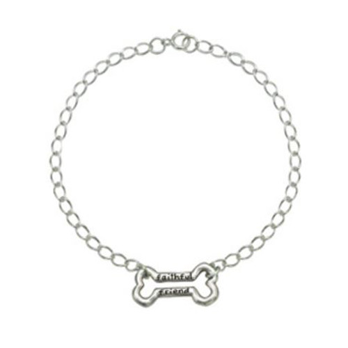 Sterling Silver Human Bracelet | Faithful Friend