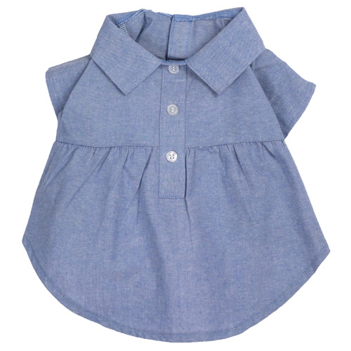 Worthy Dog Cotton Dog Shirt Dress | Chambray