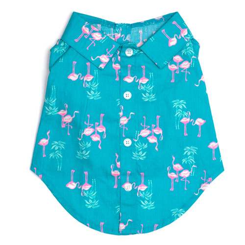 Worthy Dog Cotton Shirt | Flamingo