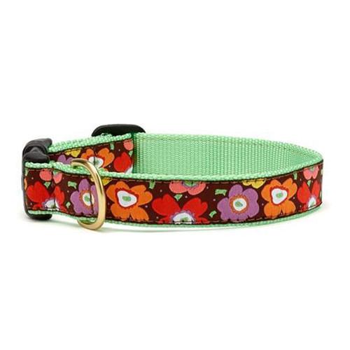 Mod Flower Dog Collar