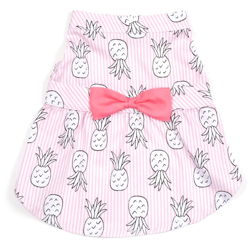 Worthy Dog Cotton Dog Dress | Pink Pineapple