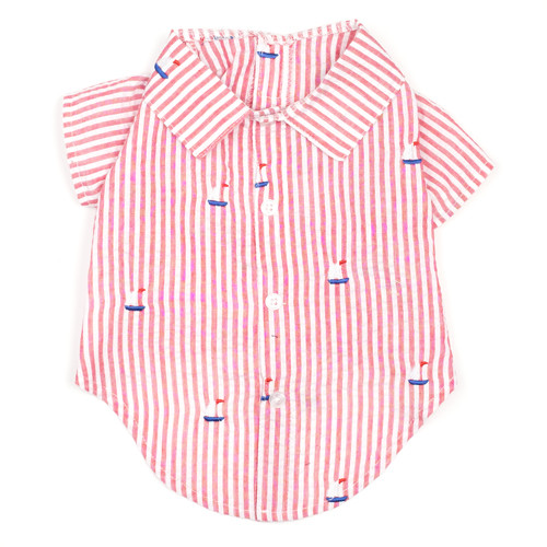 Worthy Dog Cotton Shirt | Sailboat