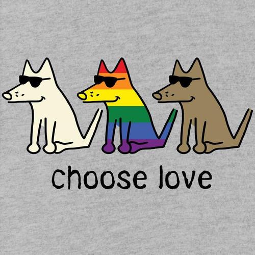 Choose Love T-Shirt - Heather Grey