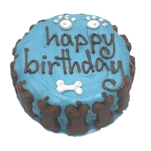 Organic Dog Birthday Cake | Blue