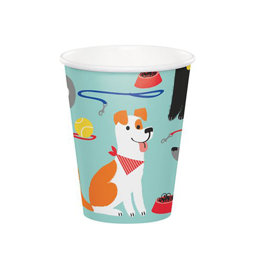 Puppy Party Dog Birthday Party Paper Cups | 8 ct