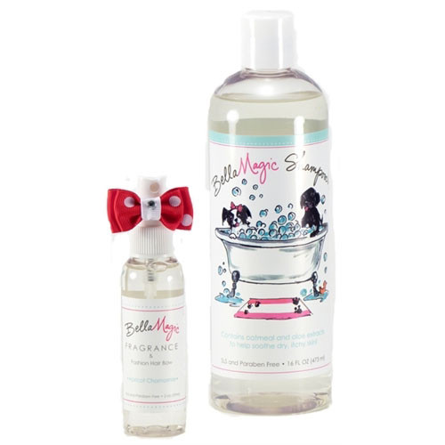 BellaMagic Oatmeal Shampooch, Fragrance & Bow Set