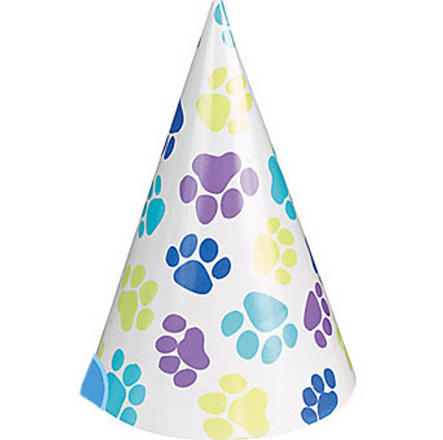 Dog Birthday Party Hats 8ct Puppy Kisses
