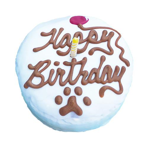 Dog Birthday Cake Round Mini Puppy Kisses