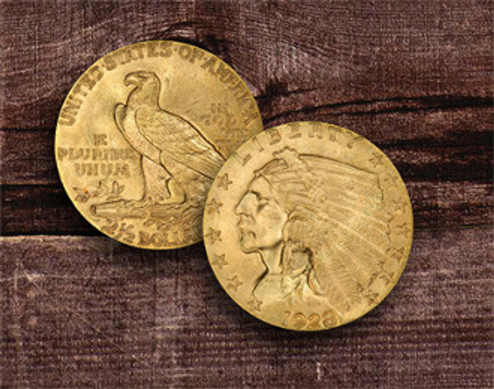 $2.5 Indian Gold Coin